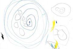 Kreise und Kringel auf einem Blatt Papier