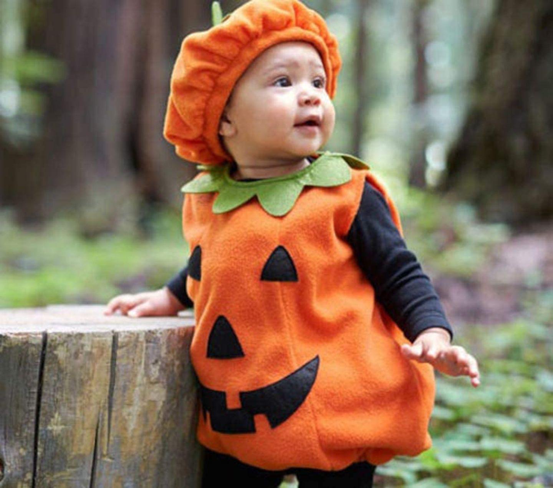 Halloweenkostüm für Kinder: Kürbis