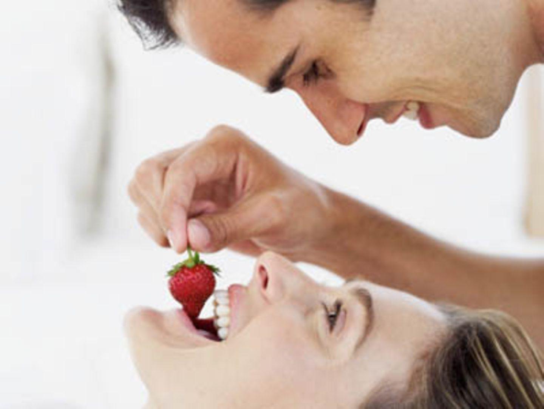 Auch Erdbeeren enthalten Zink