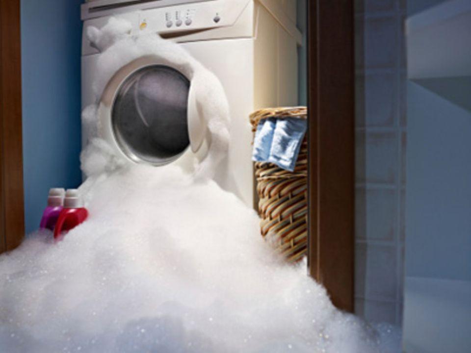 überschäumende Waschmaschine