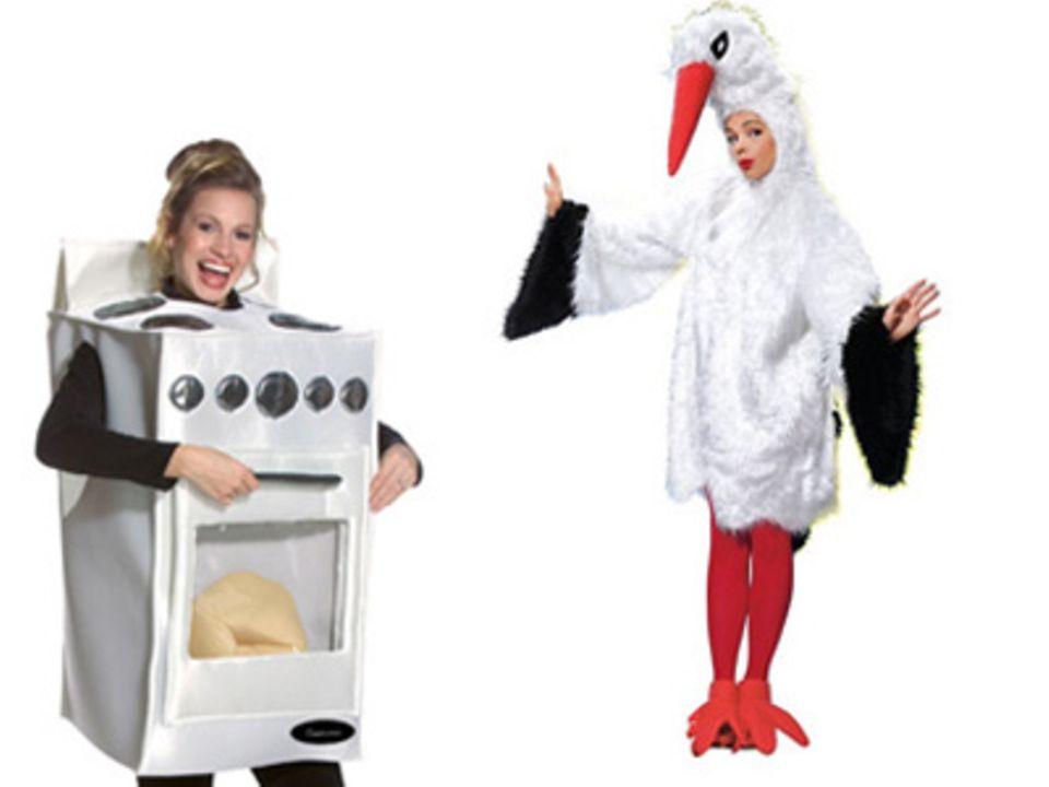 Kostüme für Schwangere : Das können Sie nur mit Bauch tragen!