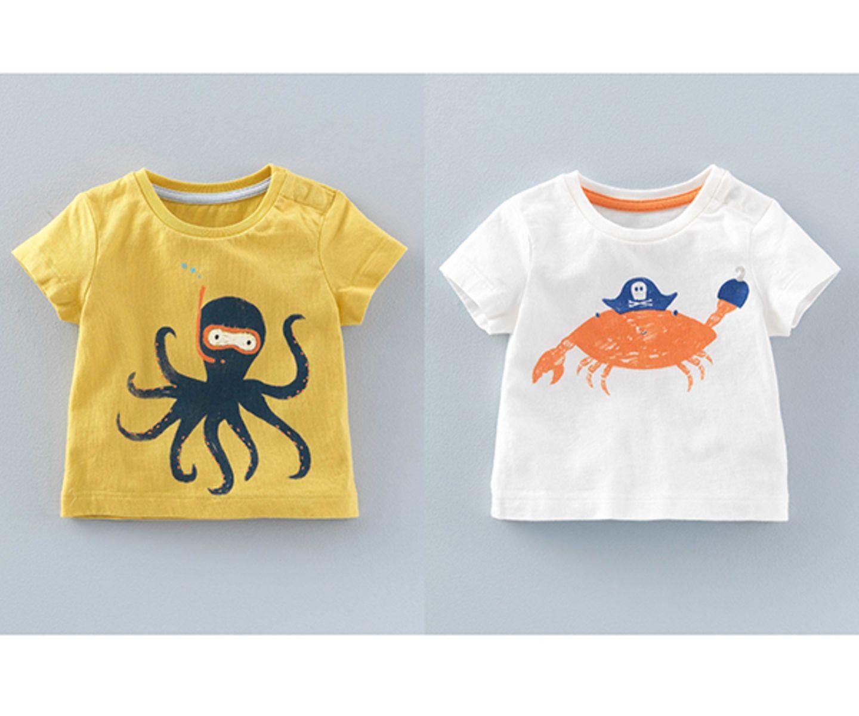 Ein Tag am Strand ist für jedes Kind ein Erlebnis. Also her mit den maritimen T-Shirts von Boden und ab in den Sand.   Preis: ab 11,10 Euro (pro Stück)   Shop: www.bodendirect.de