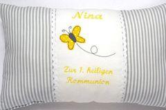 Geschenke zur Kommunion: Kissen mit persönlicher Widmung