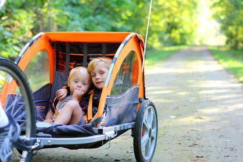 Kinderfahrradsitzt oder Fahrradanhänger?