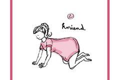 Kniend      Bei der Geburt zu knien, ist besonders für Mütter geeignet, die während ihrer Schwangerschaft unter Rückenschmerzen gelitten haben. Die Schwerkraft wirkt hier nicht so sehr wie im Stehen, aber der Vierfüßlerstand entlastet den Rücken und bietet den Frauen viel Bewegungsfreiheit.