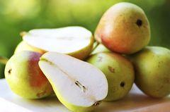 Birnen sind süßer als Äpfel und schmecken Babys oft zu Beginn besser. Zusätzlich unterstützen sie die Verdauung und haben einen geringen Säuregehalt. Ein weiches Birnenviertel kann Ihr Kind selbstständig ablutschen, knabbern und mit der Zunge zerdrücken. Birnen sind unbedenklich für die Haut am Babypo.