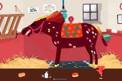 """Diese knallbunte Pferde-App ist ein großer Spaß für die Jüngsten: Ein ganzer Stall verrückter Ponys wartet darauf, gewaschen, gestriegelt, gefönt und geschmückt zu werden. Dann posiert das Pferd brav mit erhobenem Vorderlauf fürs Fotoalbum, und zwar wahlweise im Stall, im Wilden Westen, als Spring- oder Karussellpferd. Unnachahmlich: Der Gesichtsausdruck der Ponys beim Fönen! Ohne Werbung und In-App-Käufe, einziger Nachteil: die Links zu weiteren Apps des Publishers sind für die kleinen Spieler leicht zugänglich. Hier findest Du die App """"Pony Style Box"""" von Fox and Sheep für IOS im iTunes Store für 2,99 Euro."""