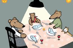 """Das kleine Bärenmädchen mit der rotgepunkteten Hose aus der Feder Jutta Bauers genießt: Fisch und Gurken, Zimtschnecken, Bonbons und Hühnerkeulen. Aber iih, doch keinen Schwamm! Ein ruhig animierter Bilderbuch-Klassiker für die Jüngsten, zum Mitkichern, Kleckern, Schmatzen und, ja, auch, Pupsen. Hier findest Du die App """"Emma isst"""" von Carlsen für IOS im Itunes Store für 3,49 Euro."""