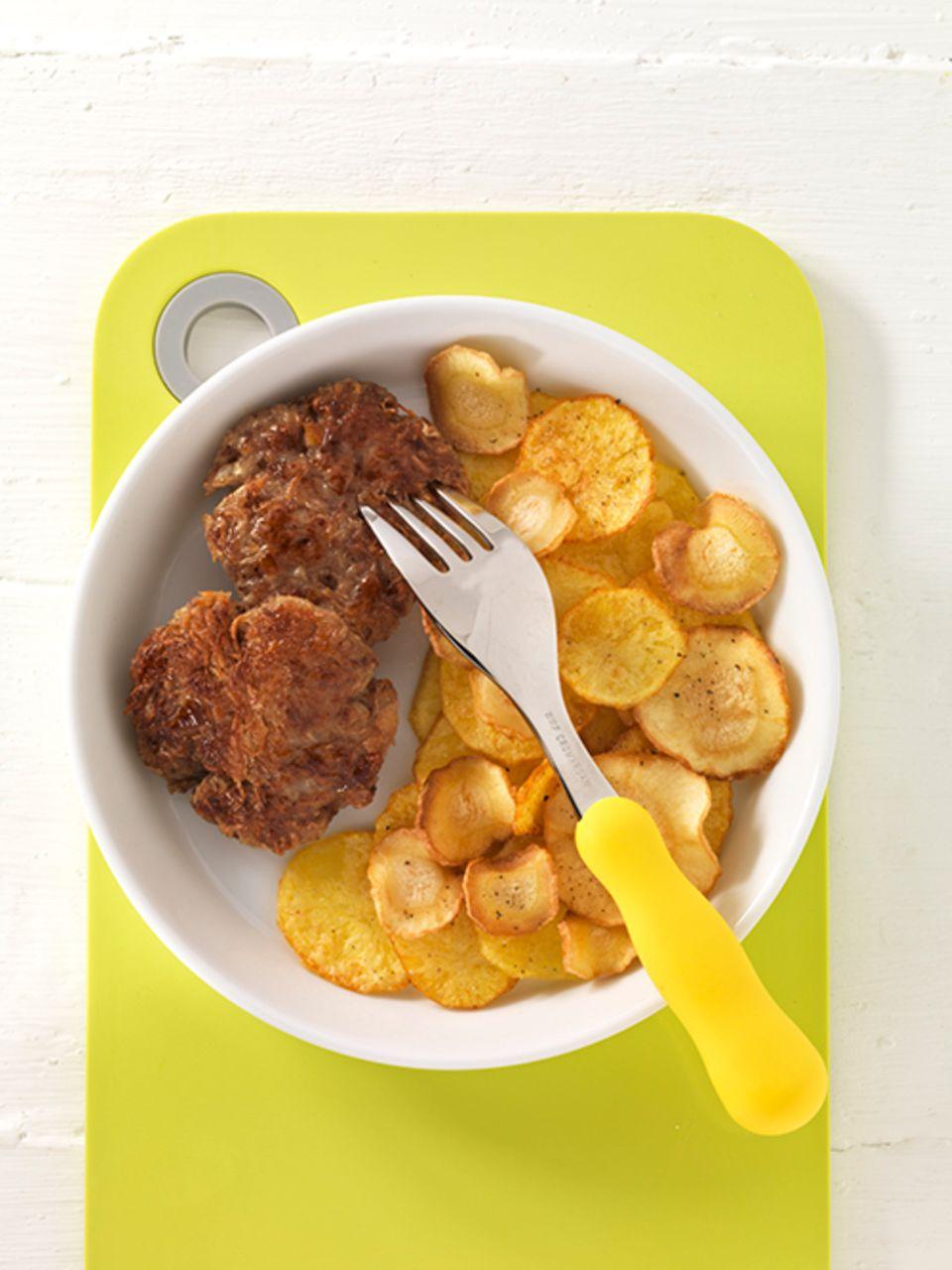 Bild von Frikadellen mit Bratkartoffel-Pastinaken