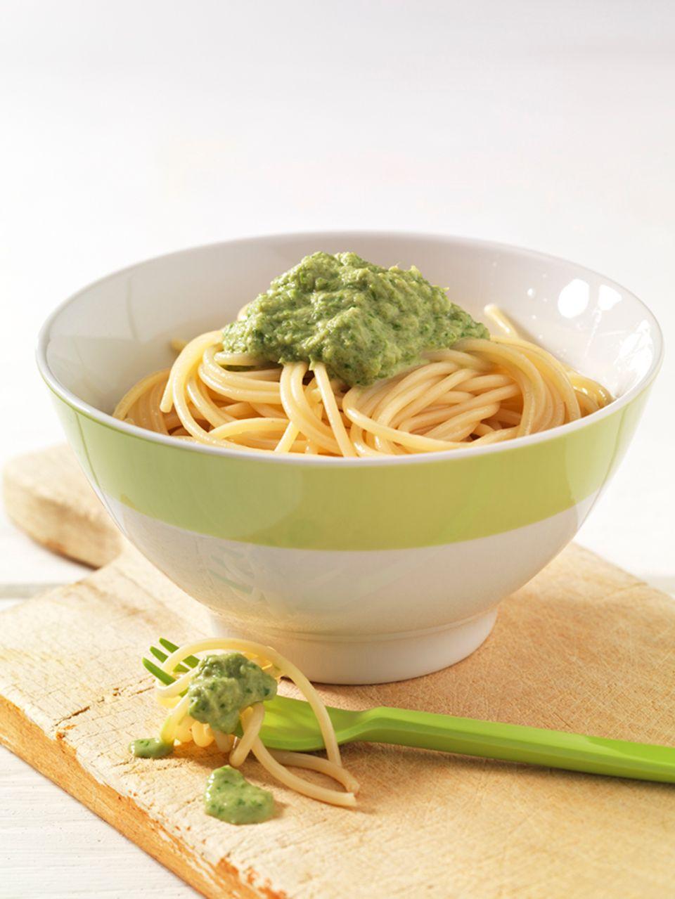 Spaghetti mit Spargel-Thunfisch-Sauce
