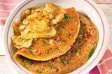 Bratkartoffeln mit Gemüse-Omelett