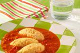 Gemüsenockerl in Tomatensauce