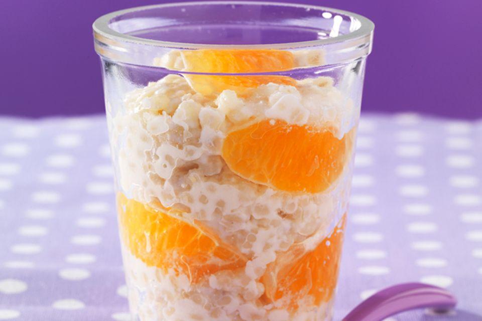 Graupenmilchbrei mit Mandarine