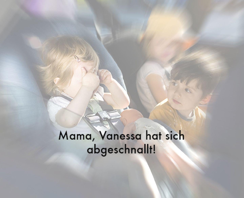 """Autofahren: """"Ich muss mal, Mama! Jetzt!"""""""