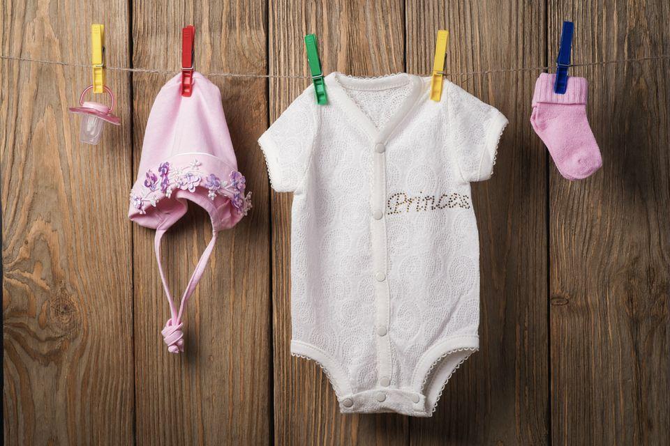 Babywaesche auf der Leine