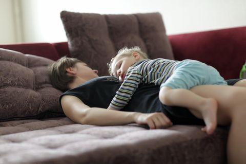 Müde Eltern