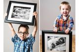 Felix, geboren in der 23. Schwangerschaftswoche und sein Bruder Alexis, geboren am Ende der 32. Schwangerschaftswoche