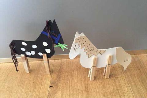 Blog rosaundlimone Pferde basteln