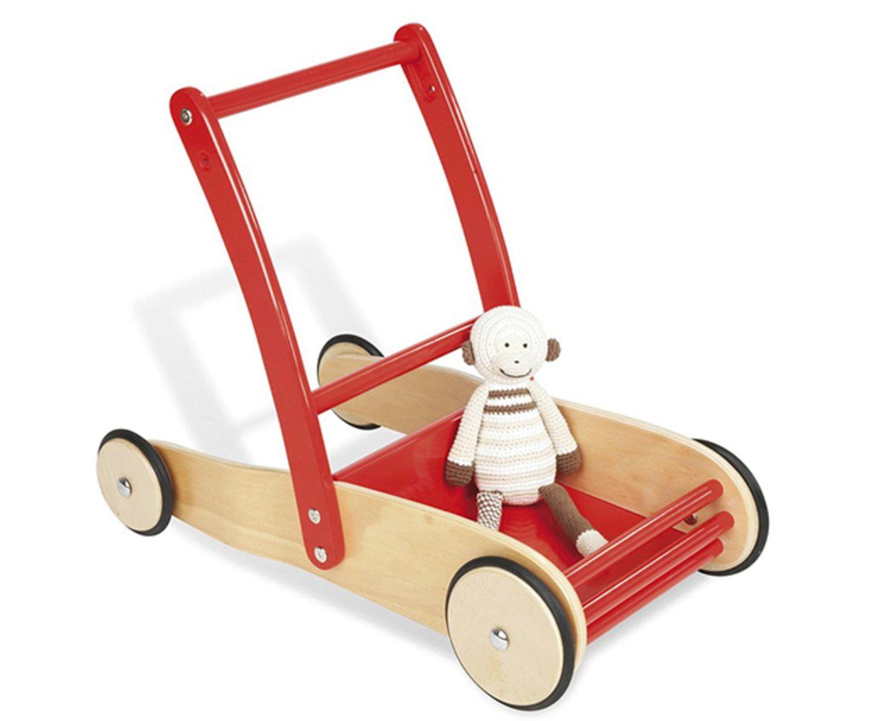 """Der Lauflernwagen """"Uli"""" von """"Pinolino"""" ist aus massivem Buchenholz und mit einem Bremssystem ausgestattet. Somit ist er seine sichere Lauflernhilfe, die für noch mehr Freude am Laufenlernen, mit allerhand Lieblingsspielzeug beladen werden kann.      Gesehen bei tausendkind   Preis: 51,90 Euro"""