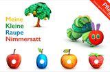 """Auch digital hat die Raupe aus dem Kinderbuch-Klassiker von Eric Carle einen Riesenappetit. Zum Schmetterling entwickelt sie sich aber nur, wenn kleine Finger sie liebevoll füttern und versorgen. Niedlichkeitsfaktor: enorm!   """"Meine kleine Raupe Nimmersatt"""" vonStoryToys Entertainment, gratis füriOSundAndroid, in-App-Käufe möglich."""