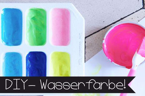 Selbstgemachte Wasserfarben