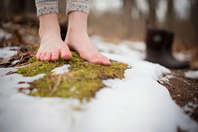 Blog Verflixter Alltag Barfuß im Schnee