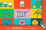"""Luftpolsterfolie als Musikinstrument? Ja klar! Auch mit Erbsen, Topfdeckeln, Füßen, Wasser und vielem mehr lässt sich Musik machen. Wie das super einfach geht, zeigt diese App. Mit einem Orchester aus Alltagsgegenständen zum selbst Dirigieren – per Fingertipp!   """"Duckie Deck Homemade Orchestra"""" von Duckie Deck Development,für iOS3,49 Euro und Android gratis, mit in-App-Käufen"""