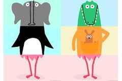 """Vom Pinguin der Kopf, in der Mitte ein Bärenbauch und unten Flamingo-Stelzen: Solche Klappbilderbücher lieben schon die Kleinsten. Diese digitale Variante bringt Kinder und Eltern mit handgezeichneten Tieren und lustigen Animationen zum Lachen.   """"Miximal"""" für iOS, von Lucas Zanotto, 2,99 Euro."""