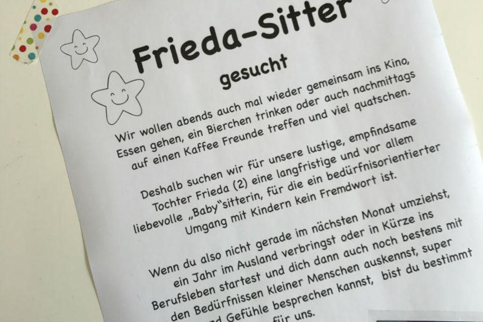 Blog Frieda Friedlich Babysitter