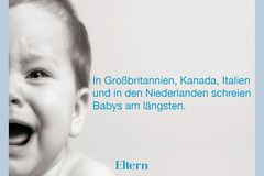 Der internationale Schrei-Vergleich: In diesen Ländern schreien Babys am längsten