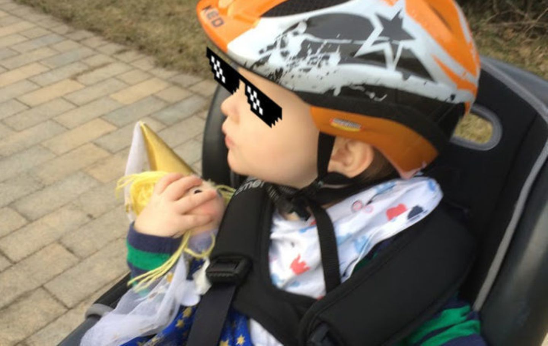 Blog Milchtropfen Fahrradsitz
