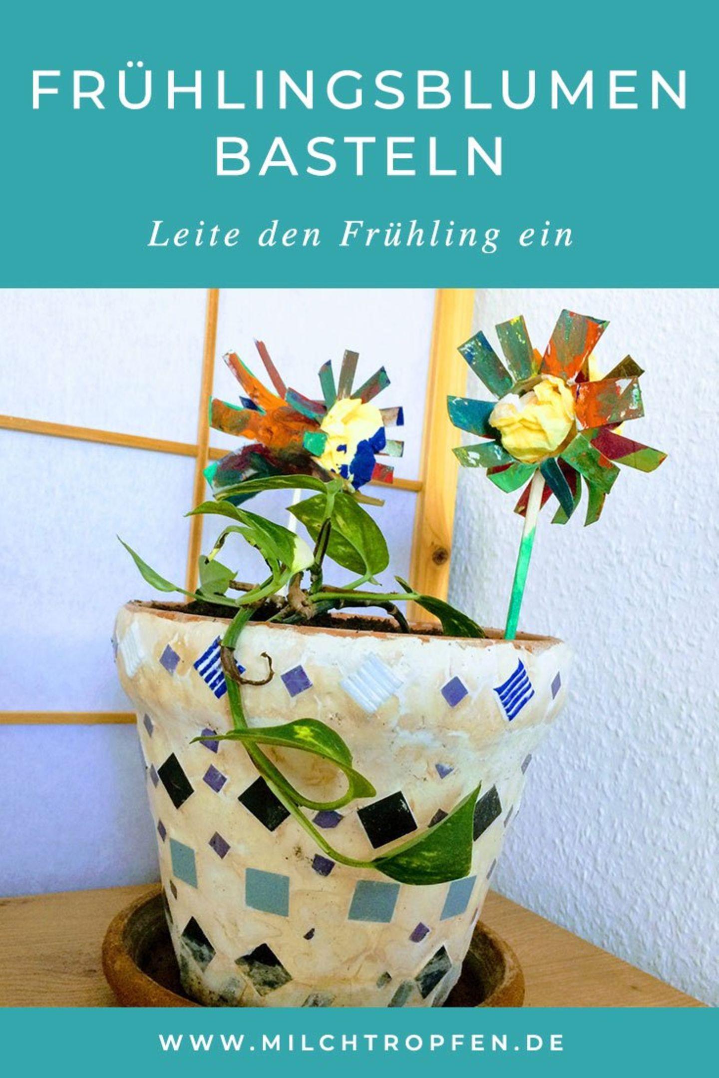 Blog Milchtropfen Frühlingsblumen DIY