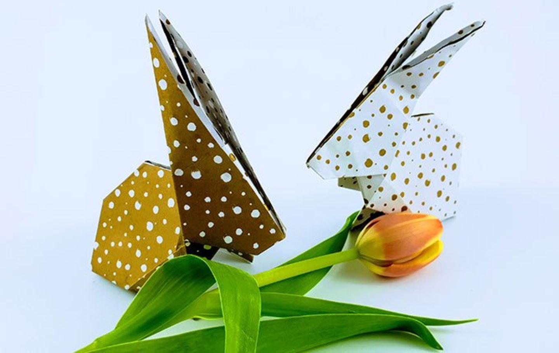 Blog Milchtropfen Origami-Hase
