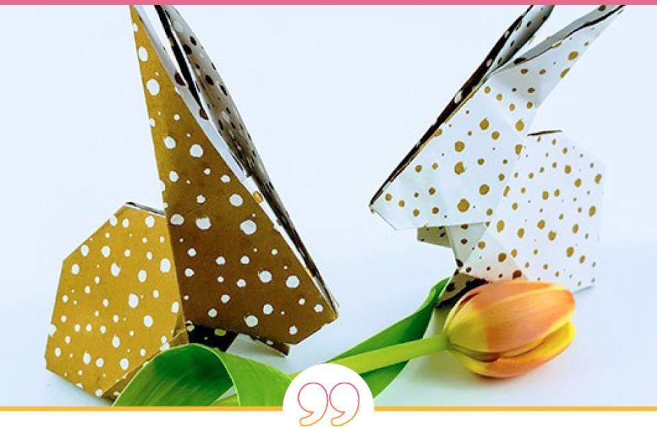 Blog Milchtropfen Origami Hase
