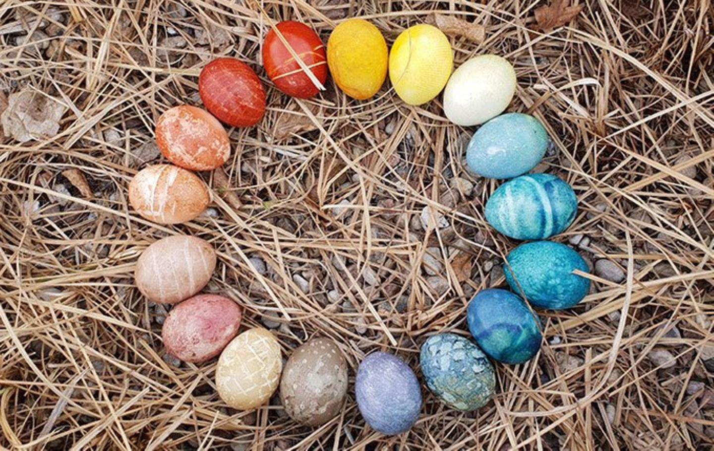 Blog Milchtropfen Ostereier Naturfarben