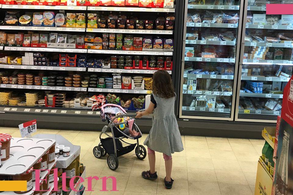 Blog Lächeln und winken Einkaufen mit Kindern