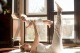 Butter und Baby beim Yoga
