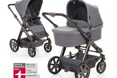 """Der """"Condor 4"""" von ABC-Design bietet sowohl für Babys in der Tragewanne als auch für Kleinkinder im Sportsitz Komfort. Alle vier Räder sind gefedert und lassen sich um 360 Grad drehen, sodass ein schnelles Wenden möglich ist.  Preis: ab 469,00 Euro  Gewicht: 13-15 kg  Hersteller: ABC-Design"""