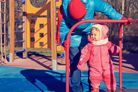 Spielplatz Winter