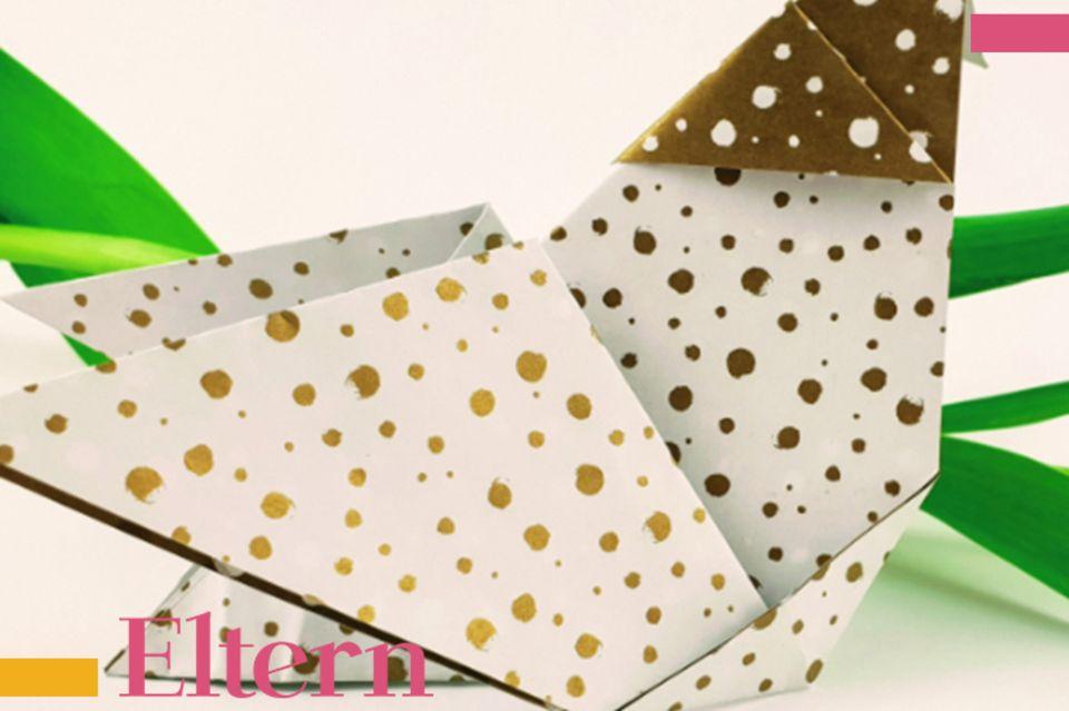 Blog  Milchtropfen, Origami Huhn