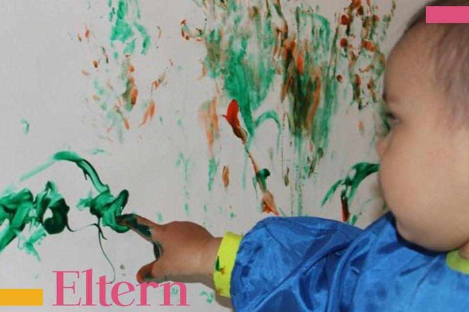 Blog Milchtropfen, Kind malt an Wände