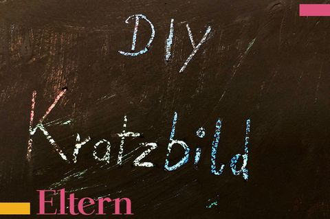 Mumslife Blog Tafel Schrift DIY Kratzbild