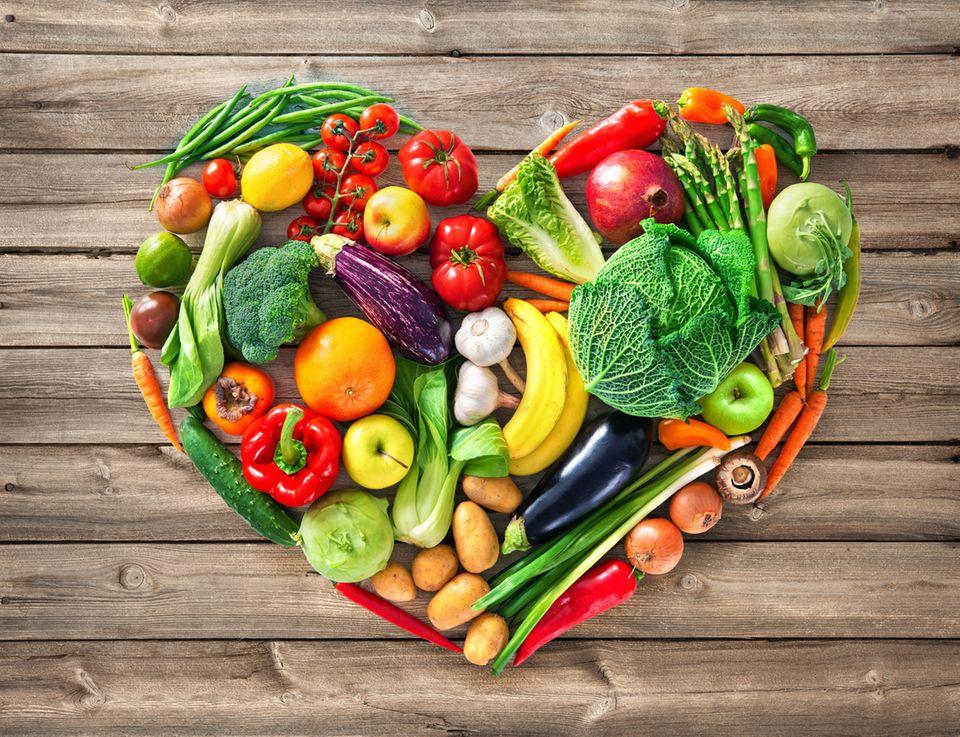Herz aus Gemüse