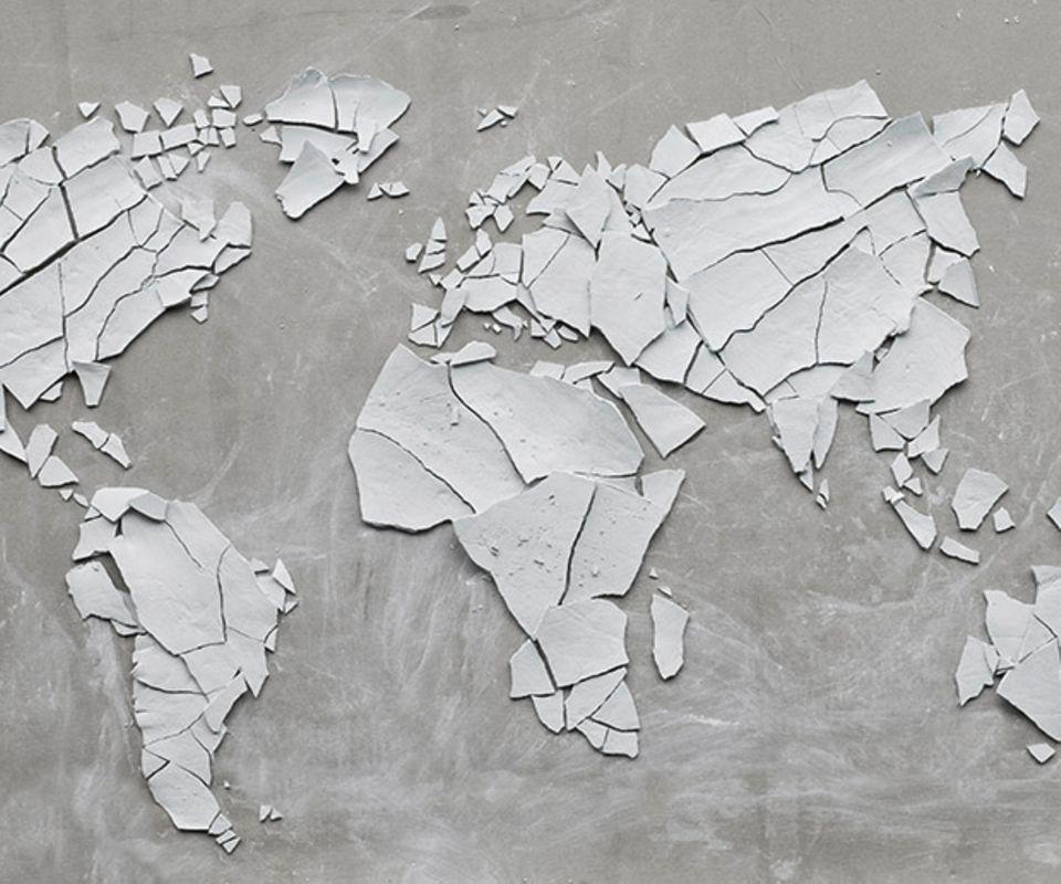 Weltkarte Umweltschutz