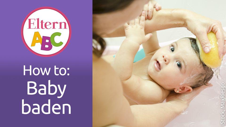 Badevergnügen: Zum ersten Mal... Baby baden!