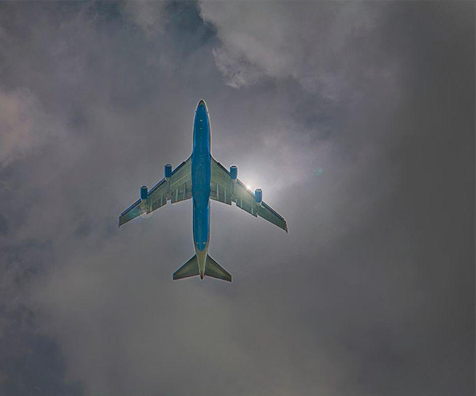 Flugzeug CO2