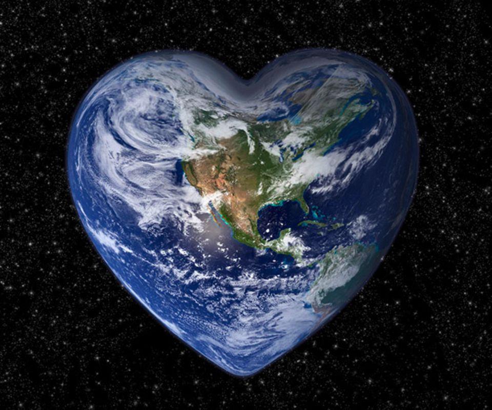 unser Planet, Herzform