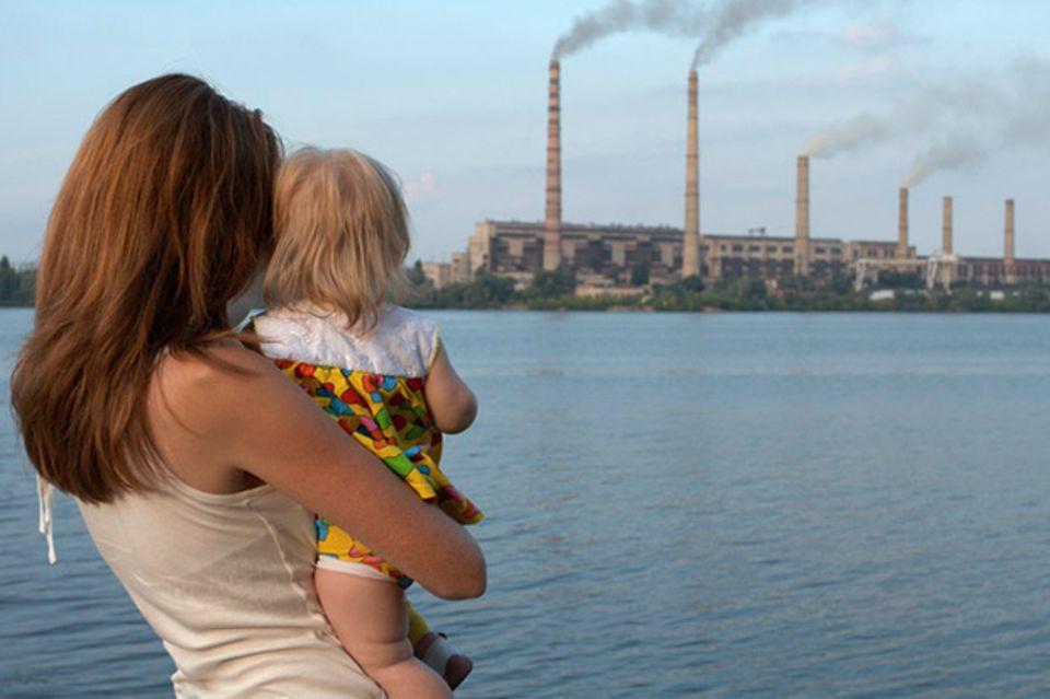 Schornsteine Fabrik Umwelt
