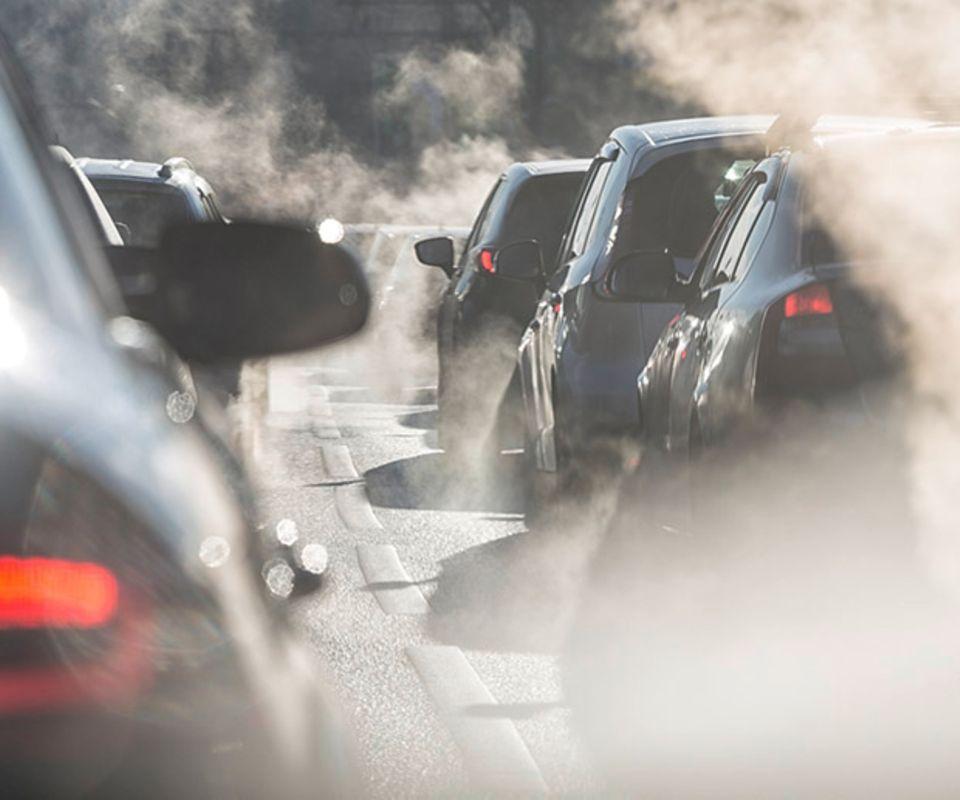 Stau Abgase Umwelt CO2