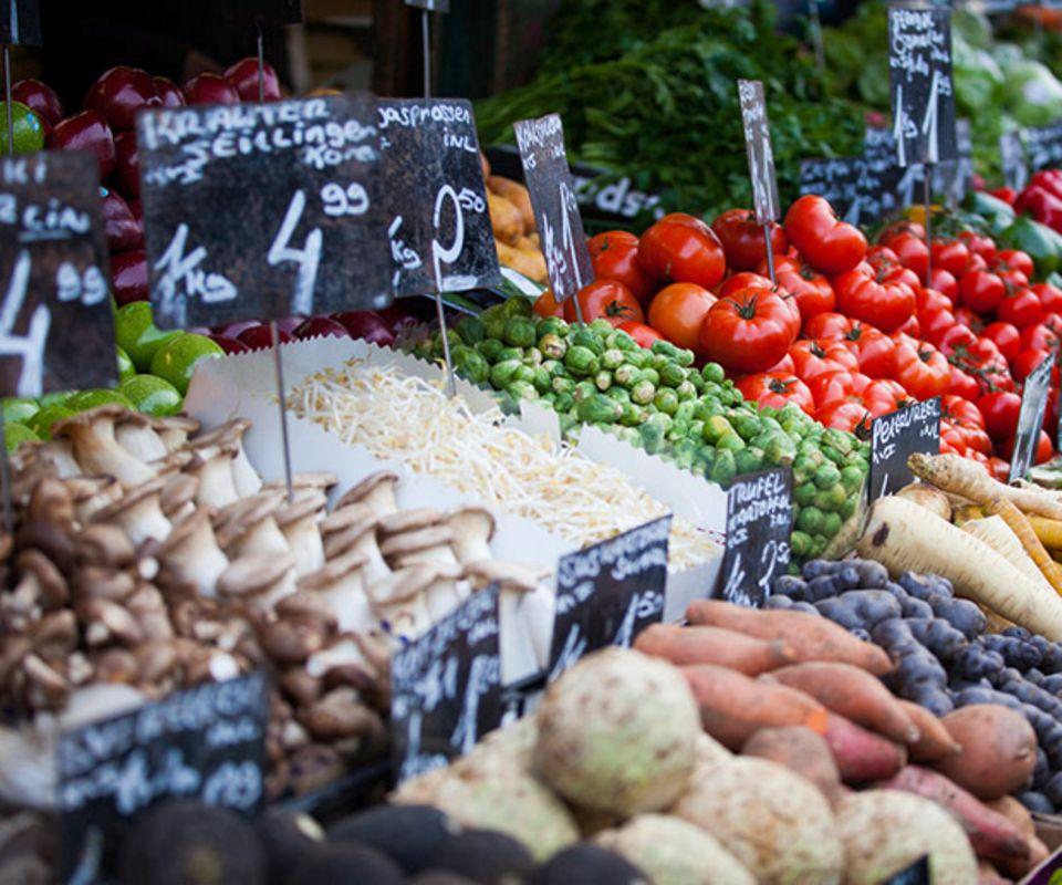 Markt regional einkaufen bio Umwelt
